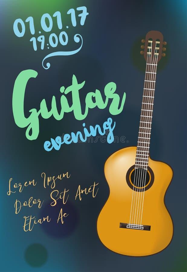 Plantilla Del Diseño Del Evento De La Guitarra Acústica Para El ...