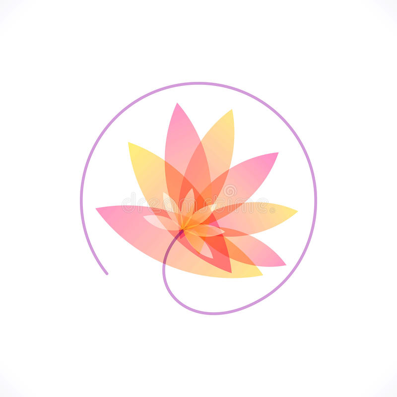 Plantilla del diseño del extracto de la flor Salud y BALNEARIO ilustración del vector