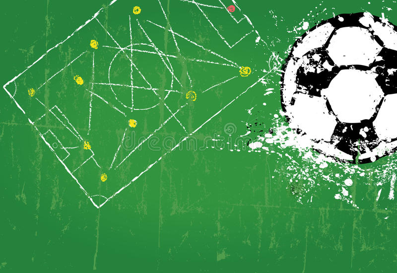 Plantilla del diseño del fútbol/del fútbol stock de ilustración