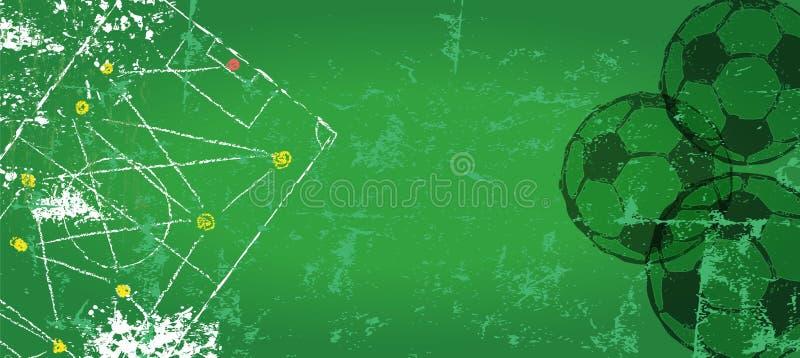 Plantilla del diseño del fútbol/del fútbol libre illustration