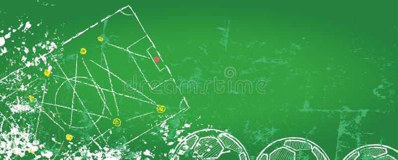 Plantilla del diseño del fútbol/del fútbol ilustración del vector