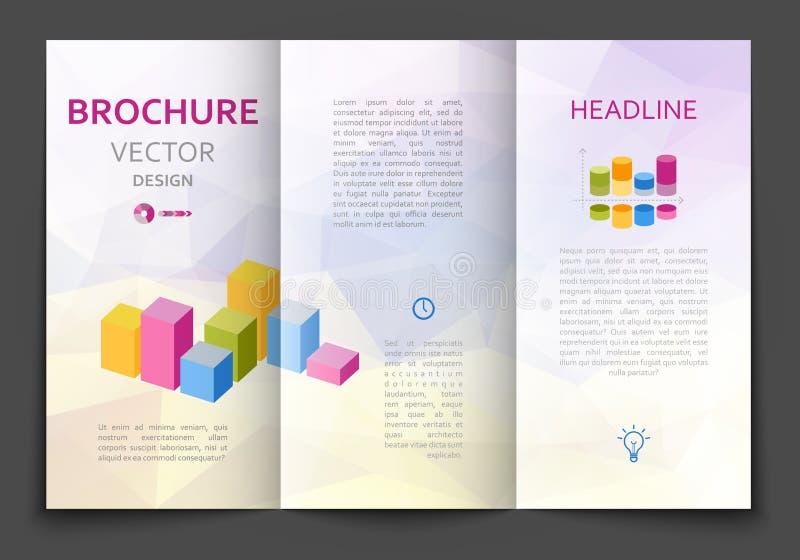 Plantilla del diseño del folleto ilustración del vector