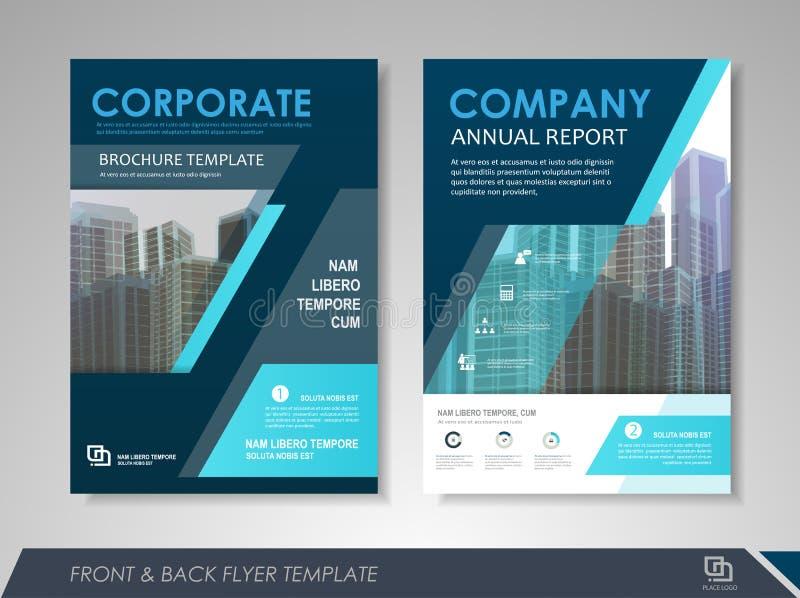 Plantilla del diseño del folleto del negocio ilustración del vector