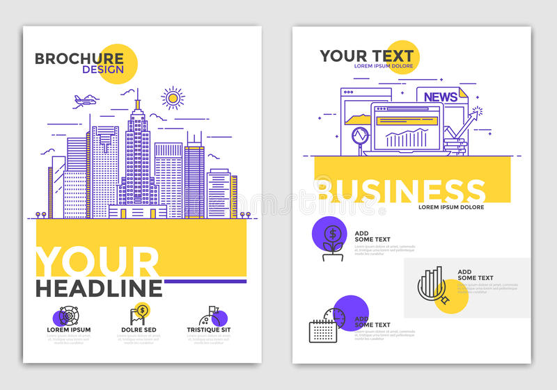 Plantilla del diseño del folleto - negocio ilustración del vector