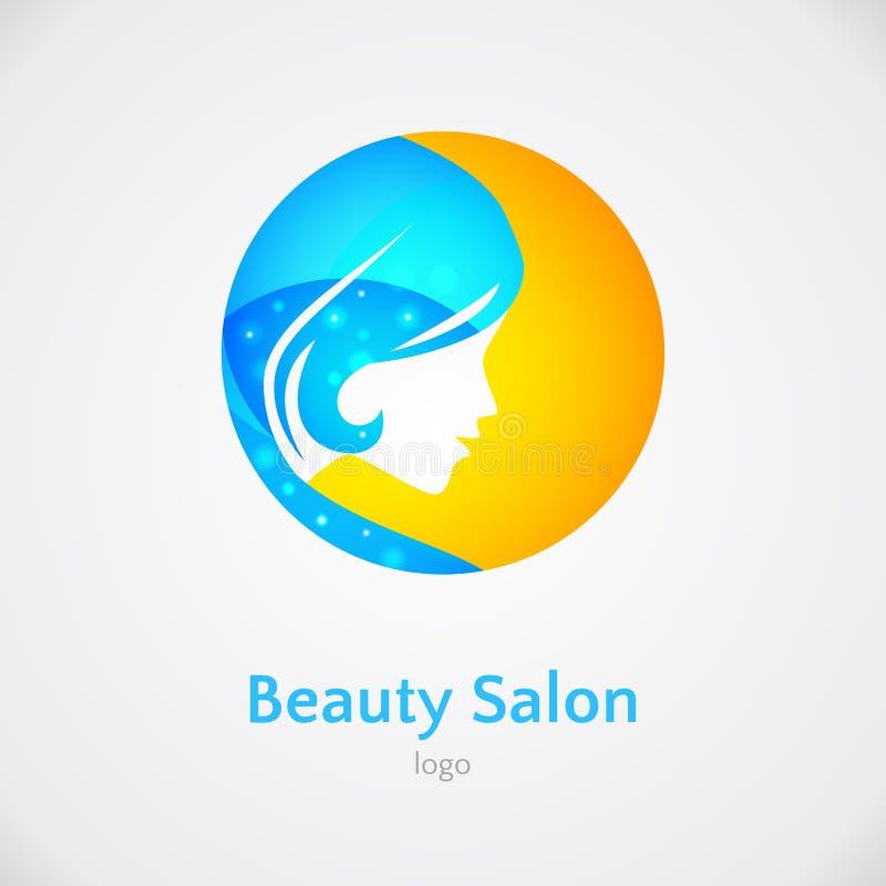 Plantilla del diseño del logotipo de la mujer stock de ilustración