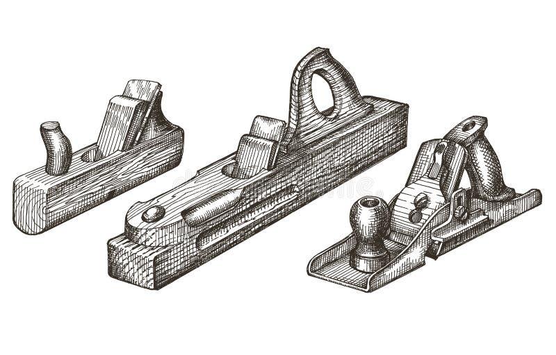 Plantilla del diseño del logotipo del vector de las herramientas avión, fuganok libre illustration