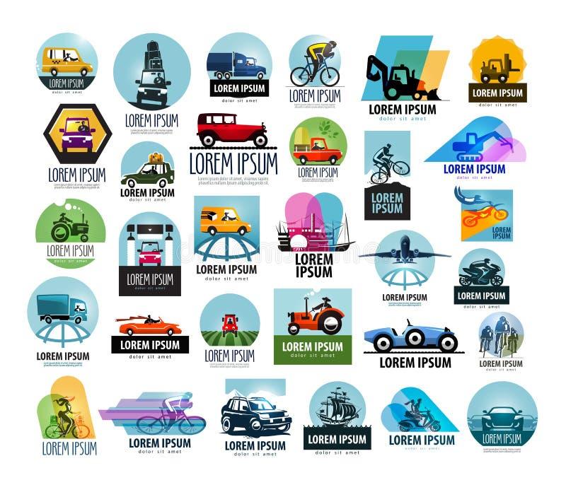 Plantilla del diseño del logotipo del vector del coche transporte o stock de ilustración