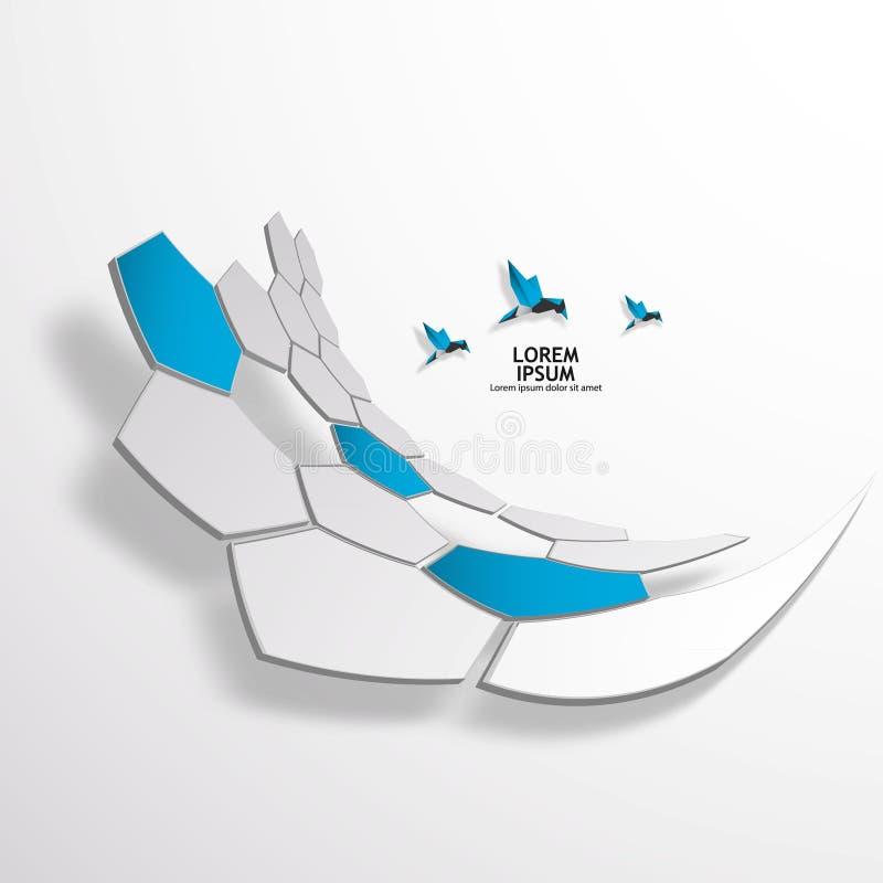 Plantilla del diseño del logotipo del vector del hexágono. libre illustration