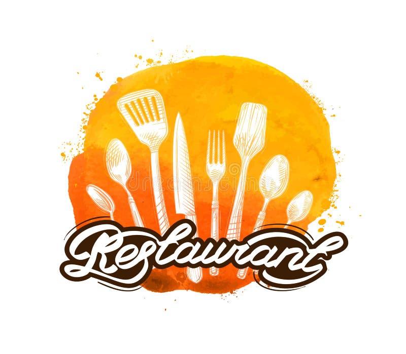 Plantilla del dise o del logotipo del vector del for Utensilios de cocina logo