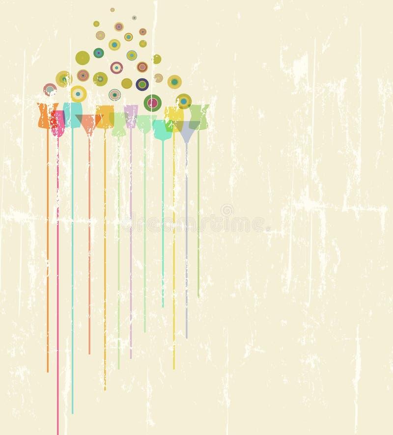 Plantilla del diseño del menú del cóctel, espacio de la copia libre, artwor ficticio ilustración del vector