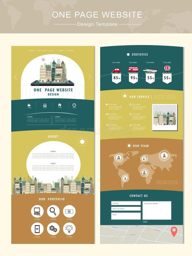 Plantilla del diseño del sitio web de la página del concepto uno del viaje libre illustration