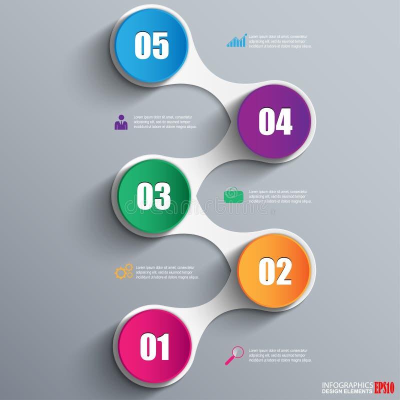 Plantilla del diseño del vector de Infographics ilustración del vector