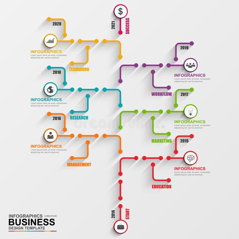 Plantilla del diseño del vector del árbol de Infographic ilustración del vector