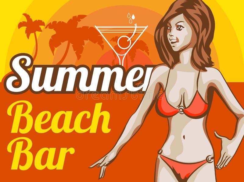 Plantilla del diseño del vector del bikini de la mujer Imagen del vector ilustración del vector