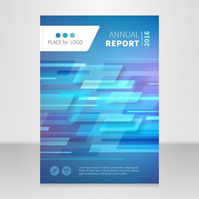 Plantilla del diseño del vector del libro del folleto del informe anual stock de ilustración