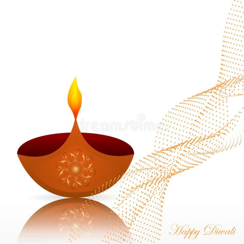 Plantilla del dise?o del festival de Diwali con las l?mparas creativas Vector libre illustration