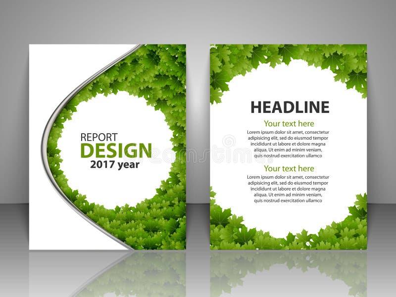 Plantilla del diseño del folleto Informe, aviador, disposición del negocio, tamaño de la plantilla A4 de la presentación libre illustration