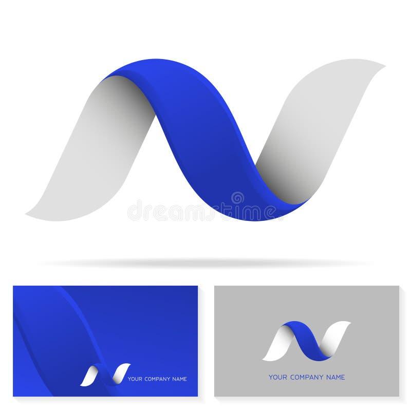 Plantilla del diseño del icono del logotipo de la letra N ilustración del vector