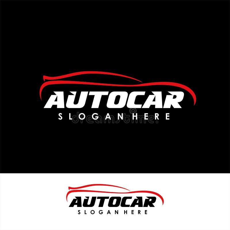 Plantilla del diseño del logotipo del coche diseño del símbolo del icono del logotipo de la silueta del coche ilustración del vector