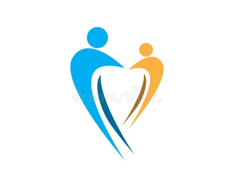 Plantilla del diseño del logotipo del cuidado de la familia de la salud stock de ilustración
