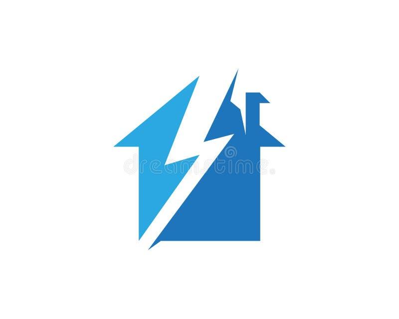Plantilla del diseño del logotipo de la casa del relámpago libre illustration