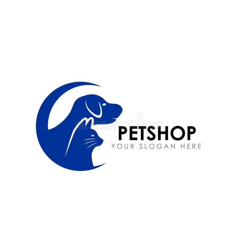 Plantilla del diseño del logotipo de la tienda de animales icono casero del vector del diseño del logotipo del animal doméstico ilustración del vector