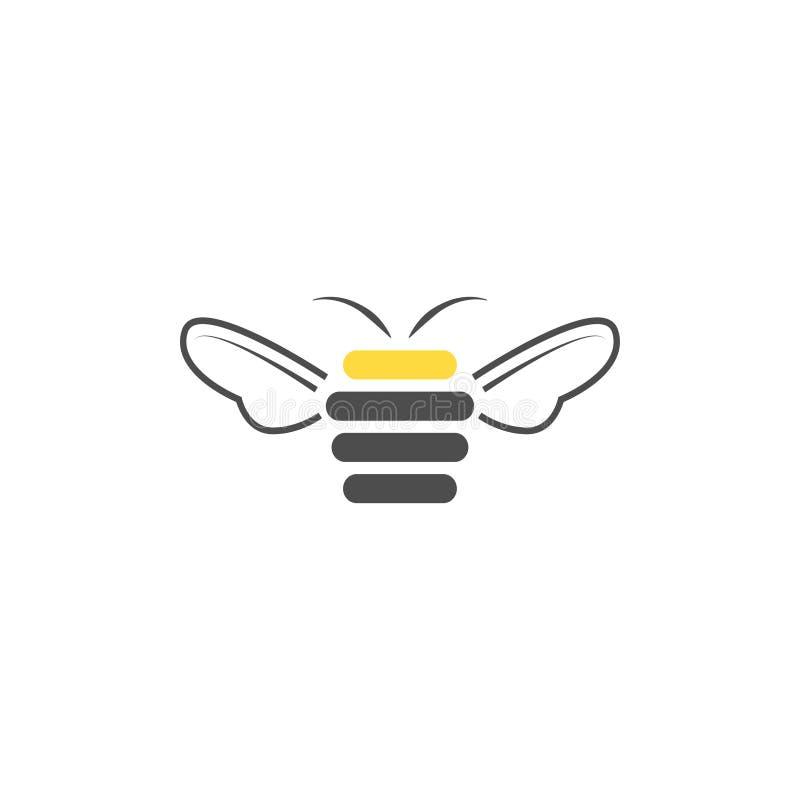 Plantilla del diseño del logotipo del extracto de la abeja de la colmena ilustración del vector