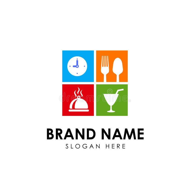 Plantilla del diseño del logotipo del restaurante elemento del diseño de la muestra del icono del restaurante ilustración del vector