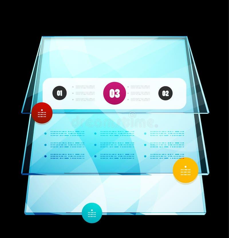 Plantilla del diseño moderno de Infographics stock de ilustración