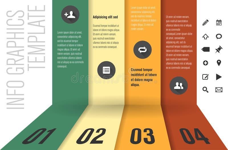 Plantilla del diseño moderno para los gráficos de la información stock de ilustración