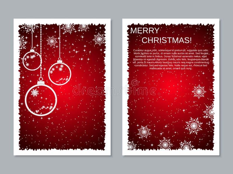 Plantilla del diseño del vector del aviador de la Navidad y del Año Nuevo libre illustration