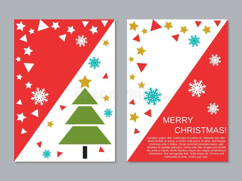 Plantilla del diseño del vector del aviador de la Navidad y del Año Nuevo ilustración del vector