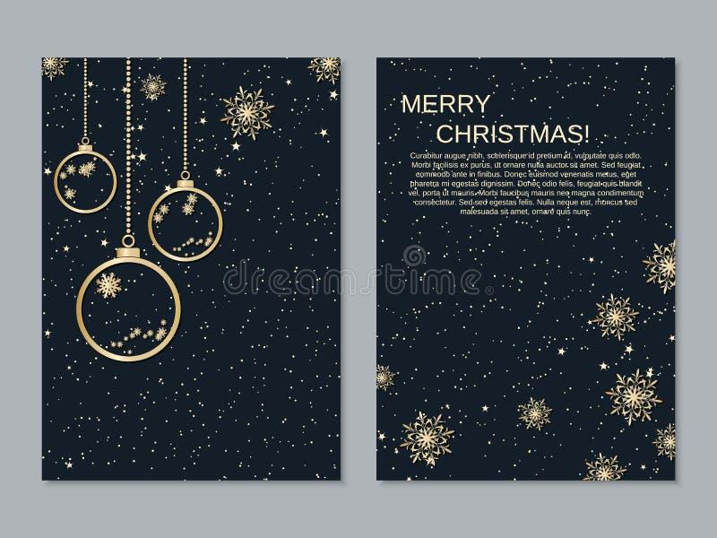 Plantilla del diseño del vector del aviador de la Navidad y del Año Nuevo stock de ilustración