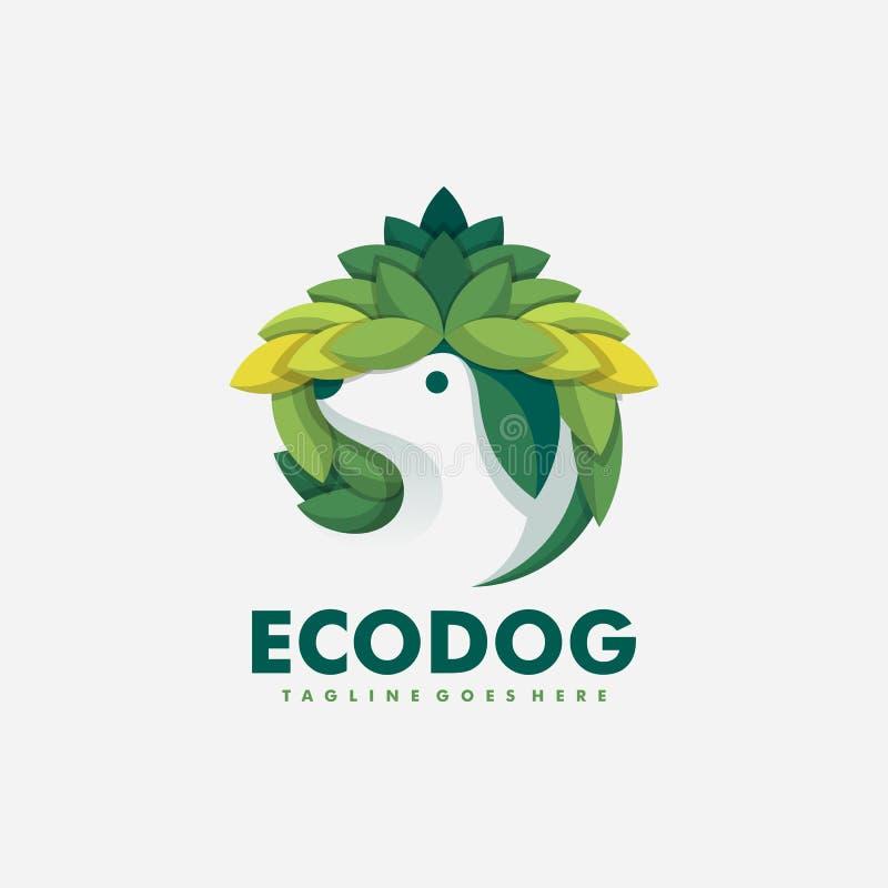 Plantilla del diseño del vector del ejemplo del concepto del perro de Eco stock de ilustración