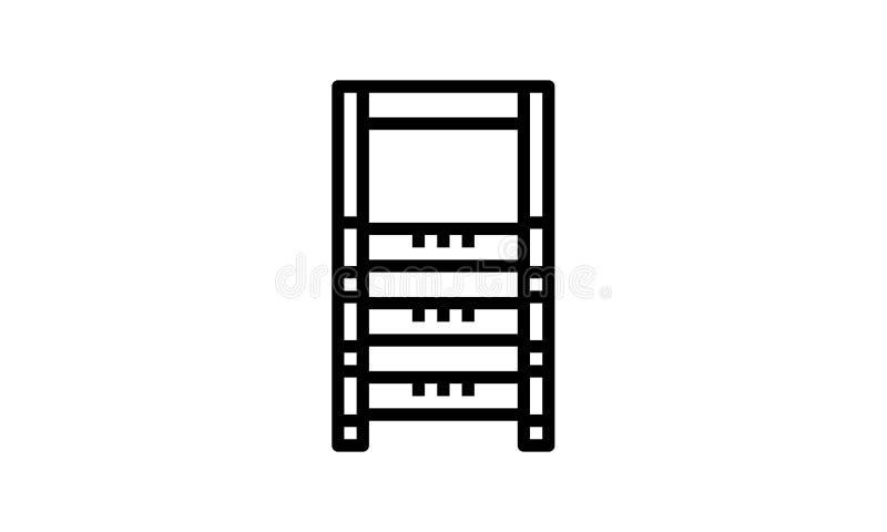 Plantilla del diseño del vector del icono de la escalera ilustración del vector