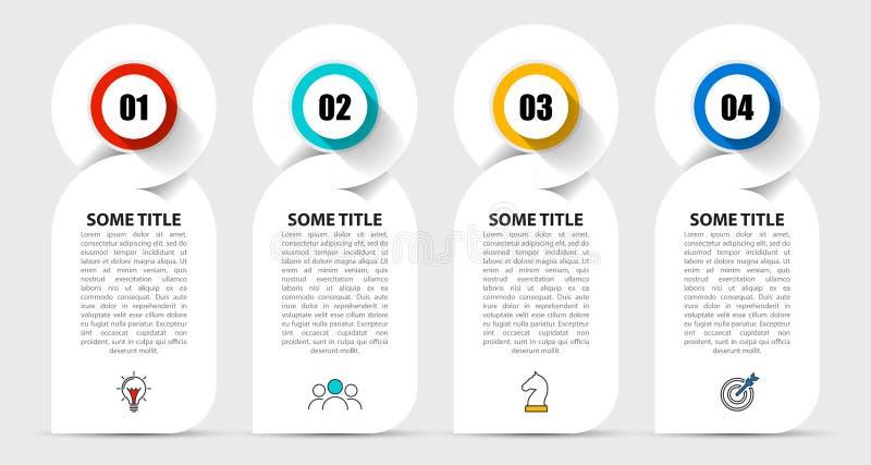 Plantilla del dise?o de Infographic Concepto creativo con 4 pasos ilustración del vector