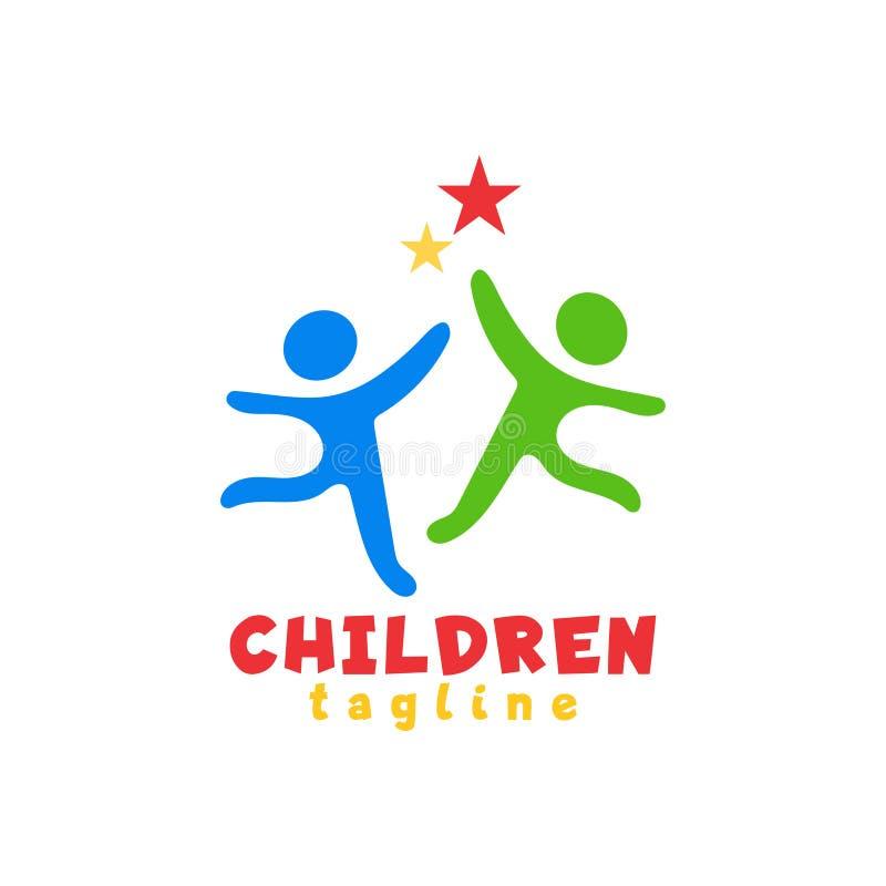 Plantilla del ejemplo del diseño del icono del logotipo de los niños libre illustration
