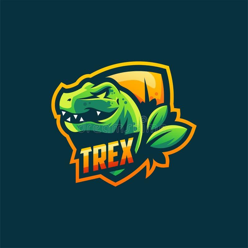 Plantilla del ejemplo del vector del diseño del logotipo de Trex ilustración del vector