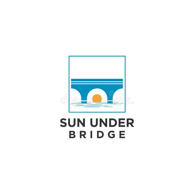 Plantilla del ejemplo del vector del logotipo del puente Concepto de la conexión ilustración del vector