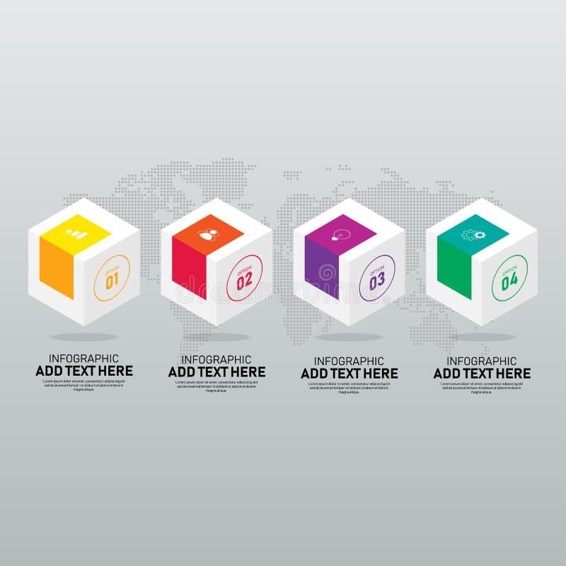 Plantilla del elemento del diseño de Infographic para la presentación del negocio stock de ilustración