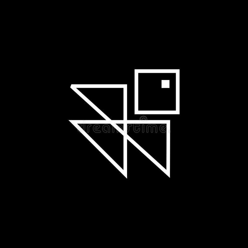 Plantilla del extracto del logotipo del arquitecto del vector Ejemplo único del vector del símbolo ilustración del vector