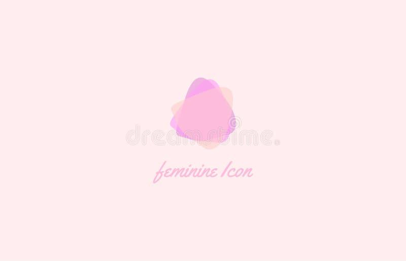 plantilla del Femenino-logotipo fotos de archivo libres de regalías