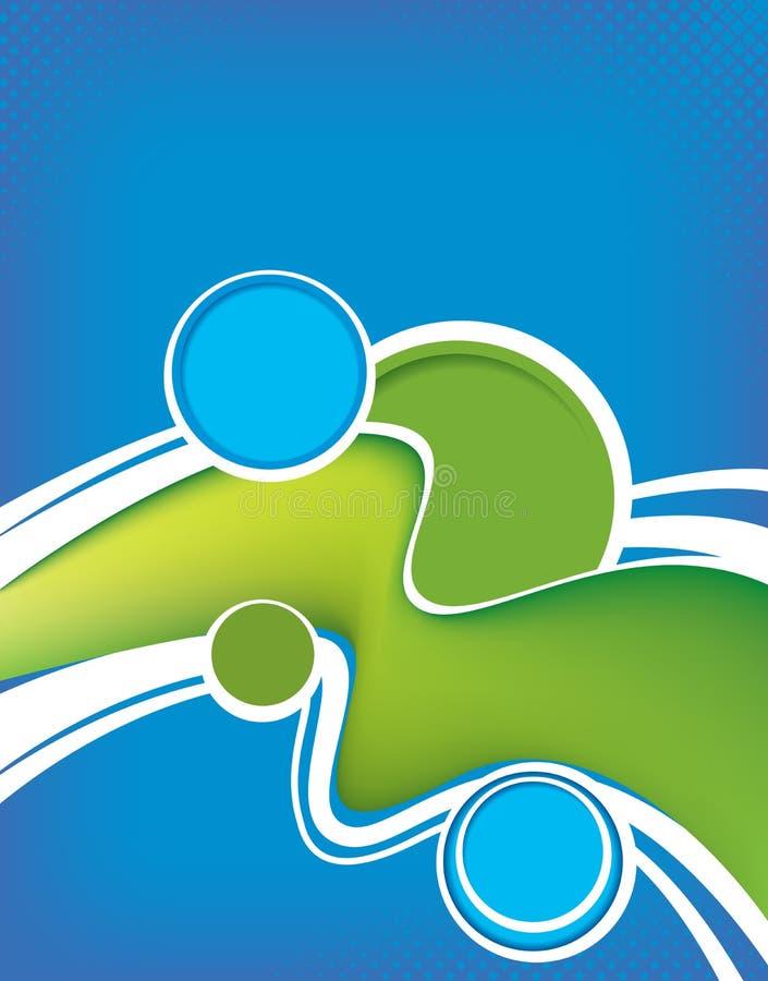 Plantilla del folleto azul y verde libre illustration