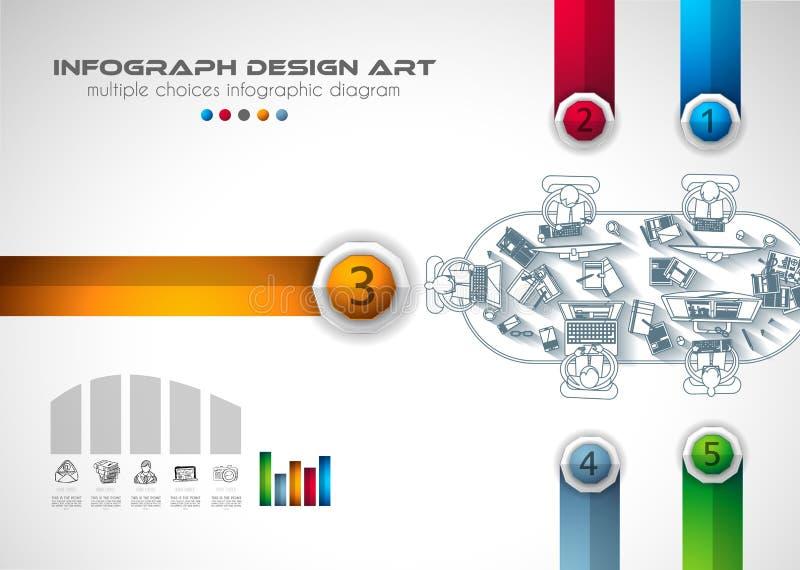 Plantilla Del Folleto De Infograph Con Muchas Opciones Y Mucho ...