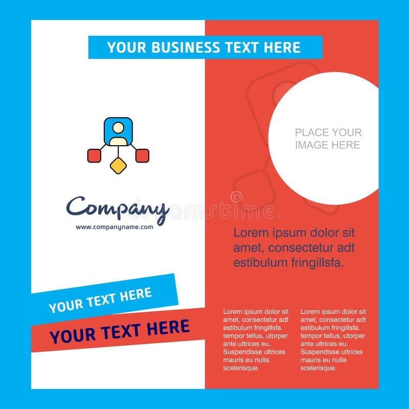 Plantilla del folleto de Network Company Plantilla de Busienss del vector libre illustration