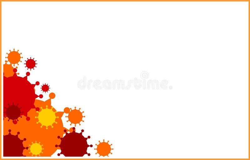 Plantilla del folleto, del informe o del aviador del diseño del vector Enfermedades de virus relativas libre illustration