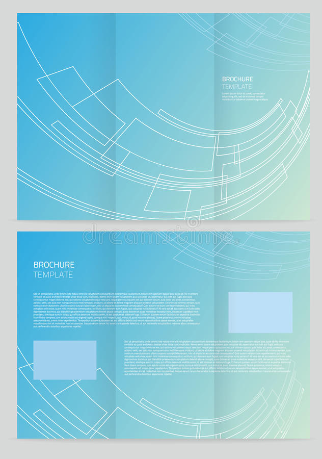 Plantilla del folleto del vector ilustración del vector