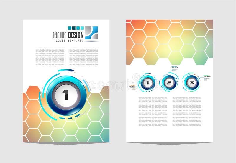 Plantilla del folleto, diseño del aviador o cubierta de Depliant para el negocio p libre illustration