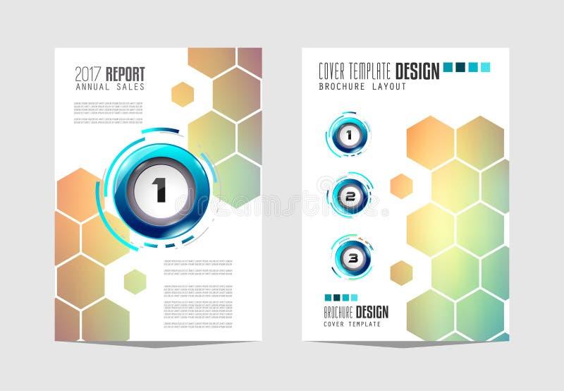 Plantilla del folleto, diseño del aviador o cubierta de Depliant para el negocio p ilustración del vector