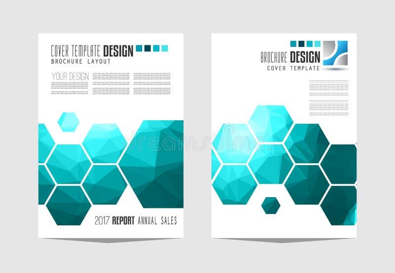 Plantilla del folleto, diseño del aviador o cubierta de Depliant para el negocio stock de ilustración